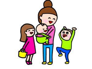 笑顔のママと子ども達
