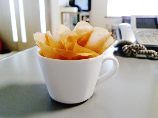 コーヒーフィルター加湿器