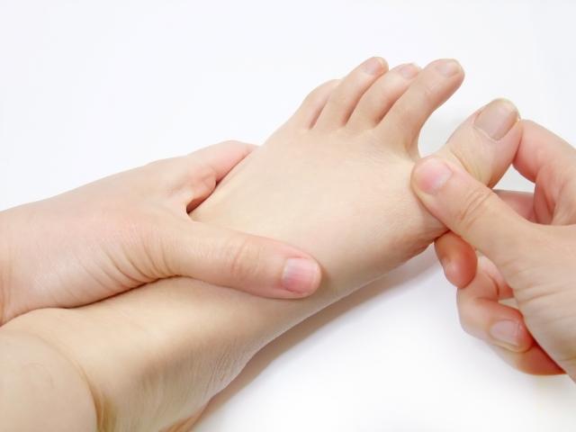 足指マッサージの写真