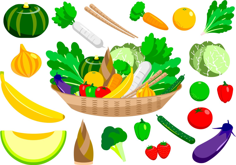 たくさんの野菜とくだもの