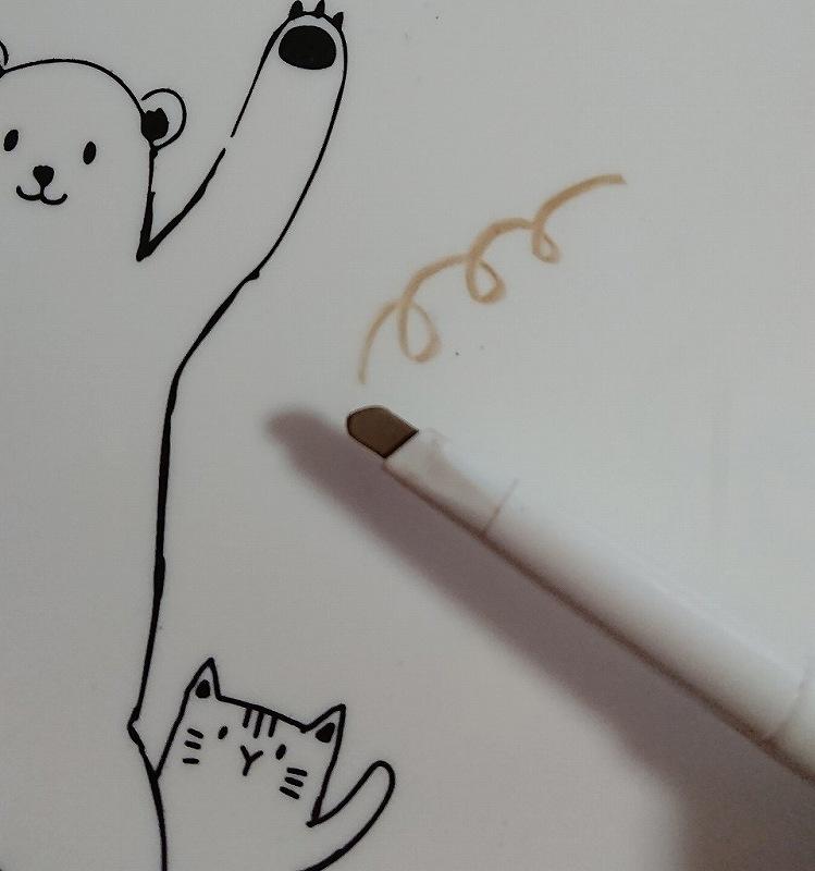 アイブロウペンシルのペン先