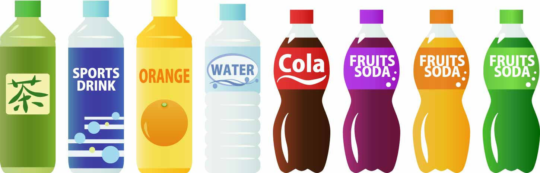 ペットボトル飲料のイラスト
