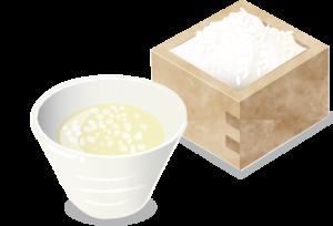 米麹甘酒のイラスト