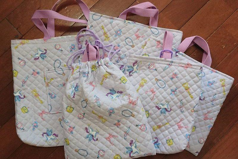 手作り通学バッグ